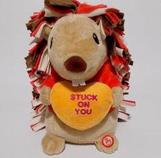 Hallmark Stuck On You Hedgehog Plush Singing Spinning Valentines Day -Video- #Hallmark