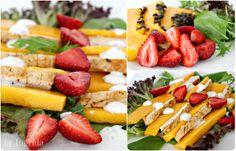Chicken papaya strawberry salad