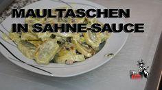 Maultaschen in Sahne Sauce - Das genaue Rezept findest Du in meinem Video auf YouTube bzw. dort in der Videobeschreibung.