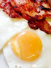 Picture of Delicious Looking Bacon and Eggs.