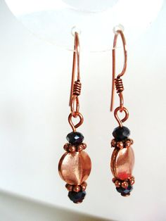 Slate black earrings  Crystal earrings  by BlueCopperDesigns, $12.00