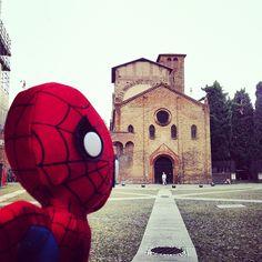"""""""Spideruccio ha detto che Santo Stefano è proprio bella! #igersitalia_swspidermantour @igersitalia @screenweek_pic"""" #amazingspiderman"""