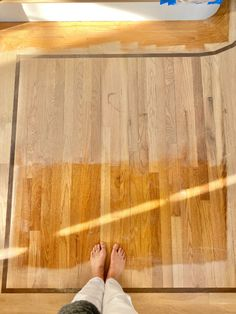 Looking to refinish your red oak hardwood floors to remove the orange effect? I'm sharing a look at Duraseal Silvered Gray and a custom mix stain as we refinished our floors. Refinishing Hardwood Floors, Oak Hardwood Flooring, Duraseal Stain, Oak Floor Stains, Floor Stain Colors, Red Oak Floors, Glass Floor, Grey Stain, Paint Colors For Living Room