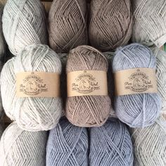"""""""I'm on my way back from the mill with a car full to the brim with our yarn. Now I've got a fair few evenings of labelling them ahead of me...…"""""""