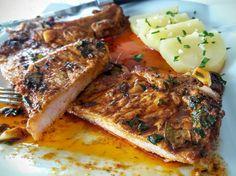 Chuletas de cerdo en adobo Steak, Pork, Mexican, Foods, Gastronomia, Pork Cutlet Recipes, Delicious Food, Deserts, Cold Cuts