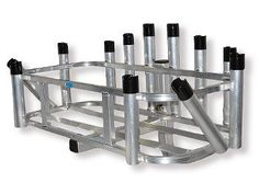 Rod Rack 12 Rod Holder Hitch Mount Reels On Wheels by CPI Designs