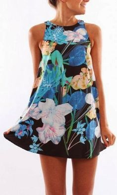 Amazing sleeveless floral mini dress fashion – Her Fashion Likes