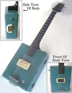 6-string vintage suitcase electric guitar