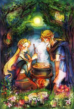 Link, Princess Zelda | Series artist: Maroro210