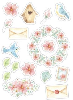 Post of Love Scrapbooking Stickers, Scrapbook Paper, Printable Planner Stickers, Journal Stickers, Tumblr Stickers, Cute Stickers, Decoupage, Image Deco, Homemade Stickers