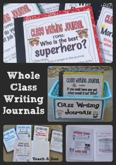 I love using whole class writing journals to engage kids in reading and writing. Perfect for writing centers and early finishers, these are a student favorite!