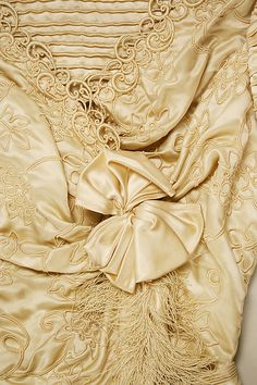 Wedding dress Date: 1902–3 Culture: British Medium: silk. Detail
