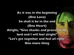 One Love - Bob Marley [Lyrics]