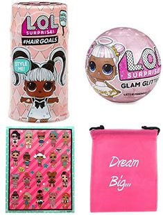 LOL Surprise Gift Bundle includes Hairgoals Makeover Series + Glitter Glam Doll + L. Sticker Sheet with Compatible Toy Storage Bag! got a fabulous makeover and now have real … Best Christmas Toys, Toy Storage Bags, Glam Doll, Making Hair Bows, Lol Dolls, Surprise Gifts, Diy Doll, Doll Accessories, Cool Toys