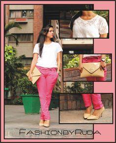 Sheer Look - White Lacy Top and Bright Pink Trousers. See full post http://www.bloglovin.com/frame?post=1186258351=0_type=a=6963199=aHR0cDovL2Zhc2hpb25ieXJ1ZGEuYmxvZ3Nwb3QuY29tLzIwMTMvMDYvc2hlZXItbG9vay13aGl0ZS1sYWN5LXRvcC1hbmQtYnJpZ2h0Lmh0bWw=1=0=0