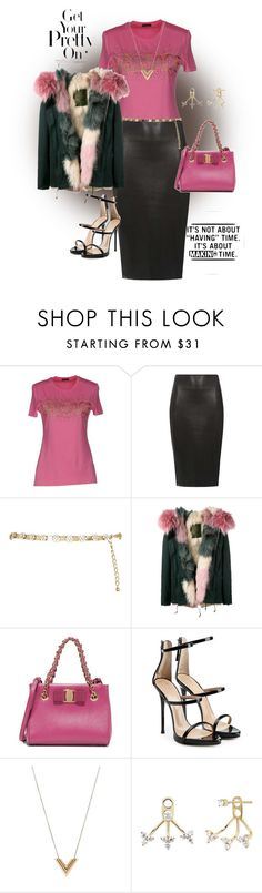"""""""Untitled #1016"""" by belinda54-1 ❤ liked on Polyvore featuring Versace, Dorothy Perkins, River Island, Mr & Mrs Italy, Salvatore Ferragamo, Giuseppe Zanotti, Louis Vuitton and EF Collection"""