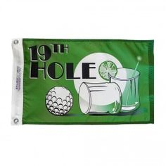 Nyl-Glo 19th Hole Flag-12 in. X 18 in. http://www.pacificcoastflag.com/product-type/sports-recreation-leisure-boating-fishing-auto-racing/12-in-x-18-in-nyl-glo-19th-hole-flag.html