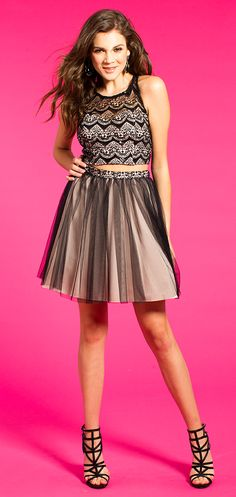 Two-Toned Two-Piece Homecoming Dress #camillelavie