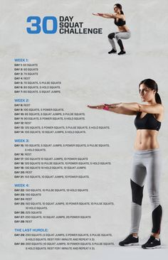 Get a toned bum with our 30 day squat challenge. With this workout you'll be sure to be one step closer yo having toned glutes. Build your workout plan today.