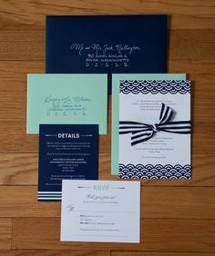 Scallop Wedding Invitations