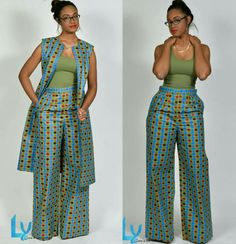Premium Pants, African Print Wide Leg Pants – African Fashion Dresses - African Styles for Ladies African Fashion Designers, African Inspired Fashion, African Print Fashion, Africa Fashion, African Print Dresses, African Fashion Dresses, African Dress, Ankara Fashion, African Prints