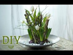 DIY: hübsches Ostergesteck mit Zweigen [How to] | Deko Kitchen - YouTube