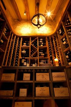 looking up at the wine cellar