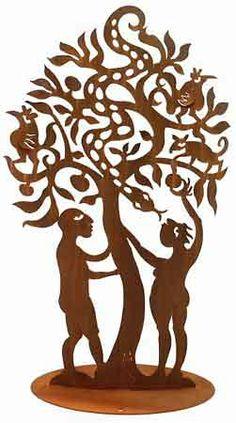 Adam and Eve Garden Sculpture