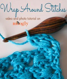 Wrap Around Stitches are a great way to add a new element of texture and fun to your crochet! Learn how to make them with this video and photo tutorial! ♥ #crochet