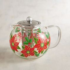 Dinnerware, Glassware & Accessories : Home Decor, Furniture & Gifts Christmas Tea, Merry Christmas, Poinsettia, Teapot, Dinnerware, Christmas Decorations, Tableware, Furniture, Holidays