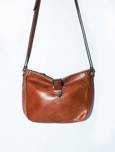 7c7d54e91920 Vintage Caramel Distress Leather Bag w  by redpoppyvintageshop