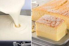 Dvouvrstvý koláč z jednoho těsta, který se v troubě rozdělí sám Cornbread, Cheesecake, Food And Drink, Dairy, Baking, Ethnic Recipes, Crafts, Millet Bread, Manualidades
