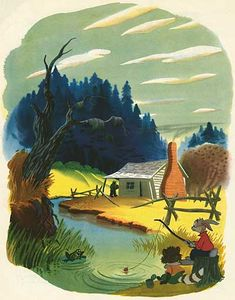 Check out the 1949 edition of the Disney Giant Golden Book, Uncle Remus Stories. It not only has a beautiful cover by the amazing Mary Blair, damned near every illustration by Al Dempster (background. Jim Henson, Disney Songs, Disney Art, Disney Quotes, Uncle Remus, Bg Design, Song Of The South, Splash Mountain, Looney Tunes Cartoons