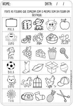 ATIVIDADES PARA IMPRIMIR - ALFABETIZAÇÃO - Criar Recriar Ensinar Portuguese Lessons, Learn Portuguese, Kids Study, Tracing Letters, Study Notes, Home Schooling, Diy For Kids, Homeschool, First Grade