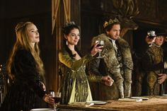 """Reign -- """"The Shakedown"""" -- Image Number: -- Pictured (L-R): Celina Sinden as Greer, Adelaide Kane as Mary, Queen of Scots and Will Kemp as Lord Darnley -- Photo: Ben Mark Holzberg/The CW -- © 2017 The CW Network, LLC. All Rights Reserved Reign Cast, Reign Tv Show, Mary Queen Of Scots, Queen Mary, Reign Season 4, Reign Episodes, Celina Sinden, Reign Serie, Reign Hairstyles"""
