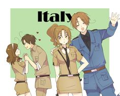 Italies with their genderbends: HAHA ROMANO YOU FLIRTY PEQUNO TOMATE ;D