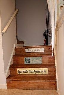 step signs! basement idea...