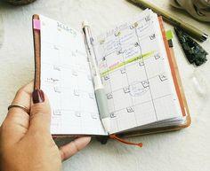 Midori Traveler's Notebook Passport Size- Daily Planner Setup  Pinterest// Plumb Worn Out