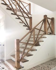 A staircase is an important part of a house. It helps the inhabitants of the house to access other parts … Staircase Railings, Banisters, Modern Staircase, Staircase Design, Staircase Ideas, Diy Stair Railing, Rustic Staircase, Wood Railing Ideas, Hallway Ideas