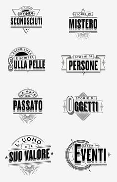 Typographic ID's - History Channel by Santiago Wardak, via Behance