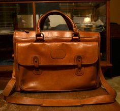 REDUCED PRICE Ghurka No17 Leather Satchel by PookieBopz on Etsy, $650.00