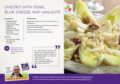 Organic Chicory with pear, perfect springtime recipe.  #organic #chicory #pear #recipe #leijten #springtime #natureandmore #lovemysalad