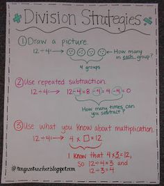 Worksheets 2 Digit Division Anchor Chart problem solving cc 3 oa this is an anchor chart showing the division tongassteacher blogspot com