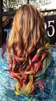 photo.JPG by ugg-off, via Flickr. Sadie's new tropical rainbow colored tips.