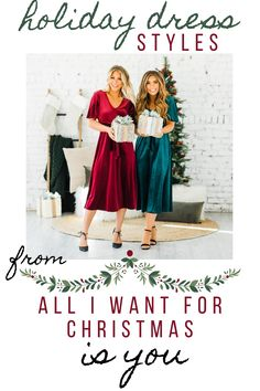 Today, on the blog, we are featuring some new holiday dress styles! Check it out! 💃🏻 (Cute Casual Outfits, Casual Outfit Ideas)