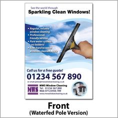 CUSTOMIZABLE Window Cleaning BC Business Card Pinterest Card - Windows business card template
