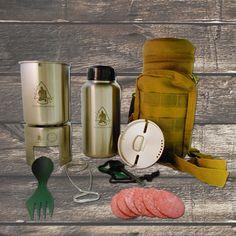 Mess kit: Pathfinder School Stainless Steel Bottle Cooking Kit Gen 3