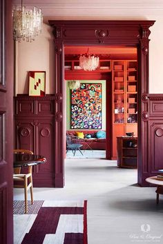 Dit appartement in Oslo is één en al kleur- Elle Nederland Traditional Paint, Paint Brands, Interior Decorating, Interior Design, Interior Stylist, Scandinavian Home, Colorful Interiors, Red Interiors, House Colors