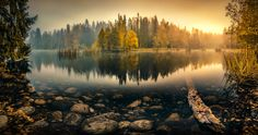 Tranquil Morning - Tranquil Autumn morning at Aulanko nature reserve, Hämeenlinna, Finland. 180 degree HDR-Panorama made of 9 vertical shots. NiSi V5 filter holder + NiSi CPL filter.