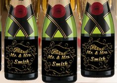 Check out this item in my Etsy shop https://www.etsy.com/listing/274474694/custom-mini-champagne-label-bridesmaid